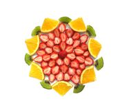 Fruit. Cut fruits on white background Royalty Free Stock Photo