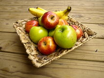 Fruit. In a woven basket Royalty Free Stock Image