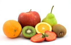 Fruit. Sliced fresh fruit studio isolated Royalty Free Stock Photos