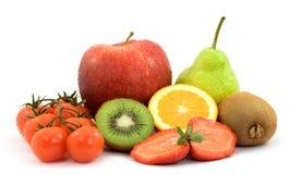Fruit. Sliced fresh fruit studio isolated Royalty Free Stock Image