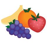 Fruit. A variety of fruit drawn in illustrator Royalty Free Stock Images