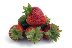 Fruit. A stack of Strawberries Stock Image