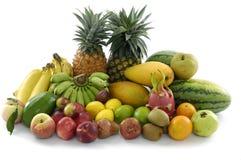 Fruit. Ripe fresh fruit. Wholesome food. On white royalty free stock photos