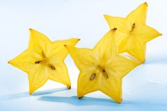 Fruit abstraction-slices carambola Stock Photo