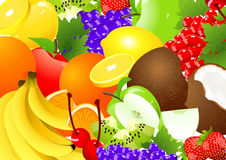 Fruit abundance vector illustration
