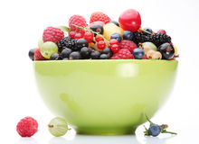 Fruit abundance. Variety of fruit in the bowl Royalty Free Stock Images