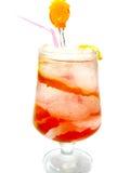 Fruit alcoholic cocktail smoothie with orange Stock Photography