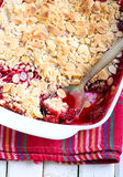 Fruit and almond crumble Royalty Free Stock Image