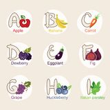 Fruit alphabet Royalty Free Stock Photo