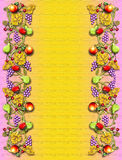Fruit & veggie wijnstokgrens royalty-vrije illustratie