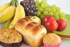 Fruit And Bread Stock Photography