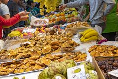 Free Fruit And Mushrooms Are Plentiful At Mercat Central In Valencia, Spain Royalty Free Stock Image - 166858556