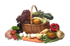 Free Fruit And Vegetable Basket Stock Images - 92167874