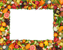 Free Fruit And Vegetable Frame Royalty Free Stock Photo - 7826315