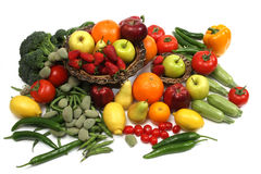 Free Fruit And Vegetables Royalty Free Stock Photos - 25136458