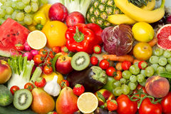 Free Fruit And Vegetables Royalty Free Stock Image - 26010286