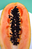 Fruit of The Angels. Papaya with seeds. Fruit is thought to be an exceptional aid to digestion. It eases heartburn and indigestion Royalty Free Stock Images