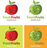 Fruit apple logo. Kit, vector template Royalty Free Stock Images