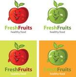 Fruit apple logo Royalty Free Stock Images