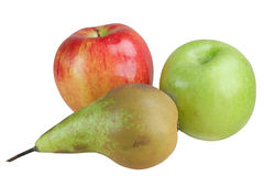 Fruit Apples And A Pear Stock Image