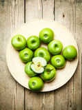 Fruit. apples in a bowl on wooden background Royalty Free Stock Image