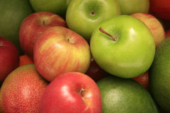 Fruit. Apples, and Mangos on display Royalty Free Stock Images