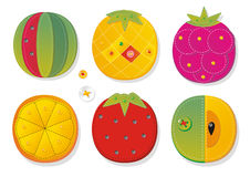 Fruit applique fabric Royalty Free Stock Photo
