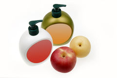 Fruit aroma hand sanitizer Stock Photo