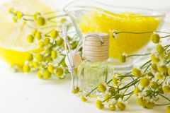 Aromatherapy yellow concept stock images