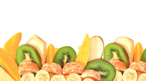 Fruit assorted on white Royalty Free Stock Image