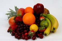 Fruit assortment. On white background Stock Photography