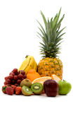 Fruit assortment - isolated Royalty Free Stock Photos