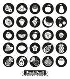 Fruit Assortment Round Icon Vector Set Stock Photos