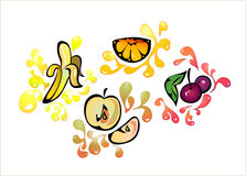 Fruit background. Food clip-art (decorative background royalty free illustration