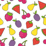 Fruit background. The colorful seamless background with fruits Royalty Free Stock Photography