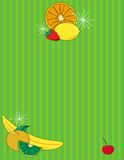 Fruit Background. Bright retro illustration of fruit with lots of copy space royalty free illustration