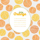Fruit background with copy space. Seamless pattern Stock Photo