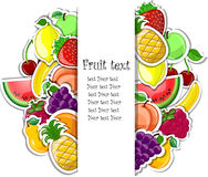 Fruit background vector Royalty Free Stock Photography