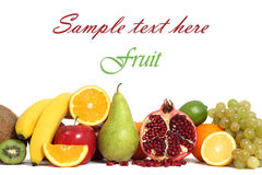 Fruit background isolated Royalty Free Stock Photography