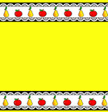 Fruit background pattern kitchen Stock Photo