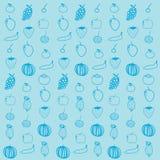 Fruit background pattern. Vector illustration Royalty Free Stock Photography