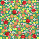Fruit background round Royalty Free Stock Image