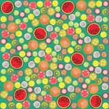 Fruit background round. Graphic illustration design art Royalty Free Stock Image
