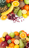 Fruit background up and down Royalty Free Stock Photos