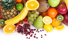 Fruit background from up Stock Images