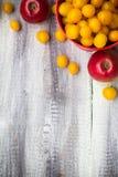 Fruit background vintage wooden autumn food nature Royalty Free Stock Photo