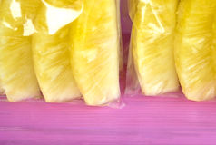 Fruit in bags Royalty Free Stock Images