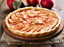 Fruit baking apple pie Stock Photos
