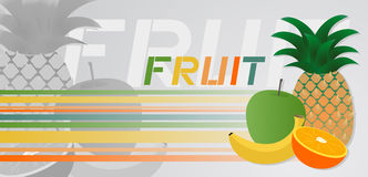 Fruit banner Stock Photography
