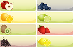 Fruit Banners Stock Images